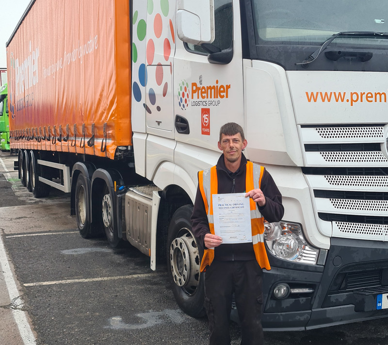 Matthew Appleton Passes his HGV Class 1 First time