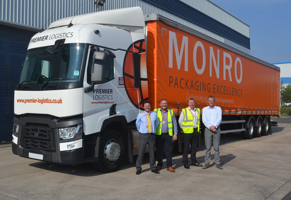 Premier unveils new liveried trailer for Monro