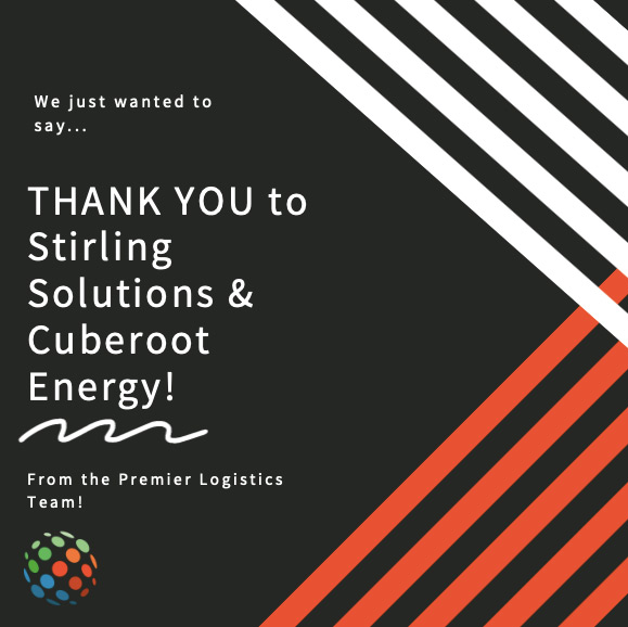 Thank you to Stirling Solutions & Cuberoot Energy